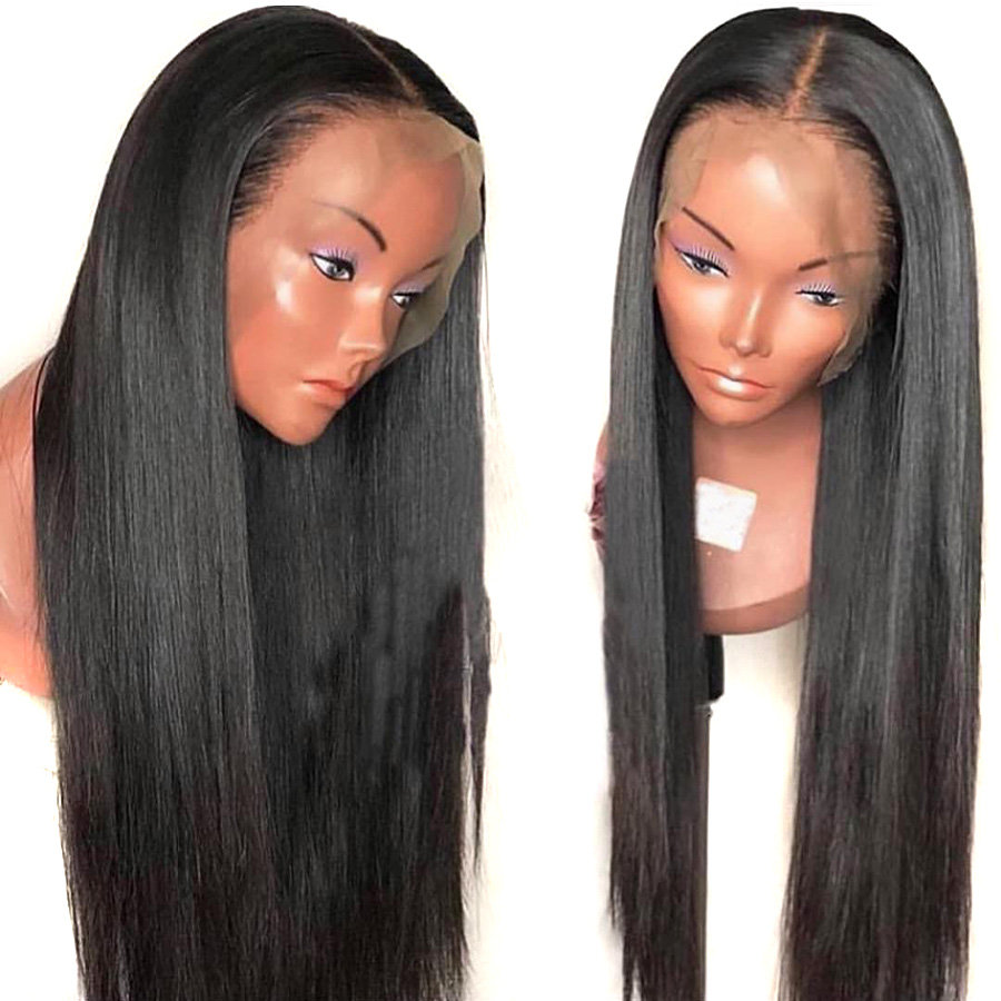 BEEOS 13*6 Deep Part Lace Front Human Hair Wigs 150 Density Straight Pre Plucked with Baby Hair Natural Black Remy Hair Lace Wig-in Human Hair Lace Wigs from Hair Extensions & Wigs    3