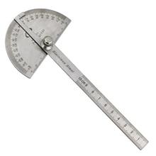 Ремесленник правило линейка машинист инструмент-Гониометр из нержавеющей стали стальной транспортир Угол искатель рука измерительная круглая головка общий инструмент