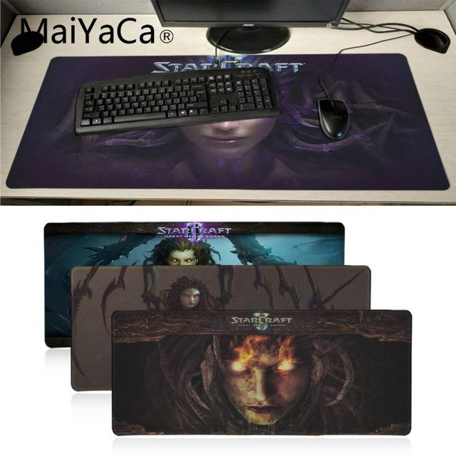MaiYaCa Boy Gift Pad Starcraft heart of the swarm Durable Desktop Mousepad anime dota2 Soft Rubber Professional Gaming Mouse Pad