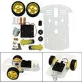 Diy motor inteligente robot car chassis kit velocidad encoder caja de la batería para arduino envío gratis