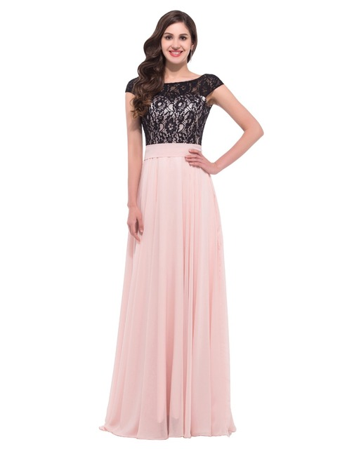 8cc78e3b9937bb1 Халат де вечер черного кружева арабский длинные вечерние платья спинки  лодка шеи вечернее платье кап-