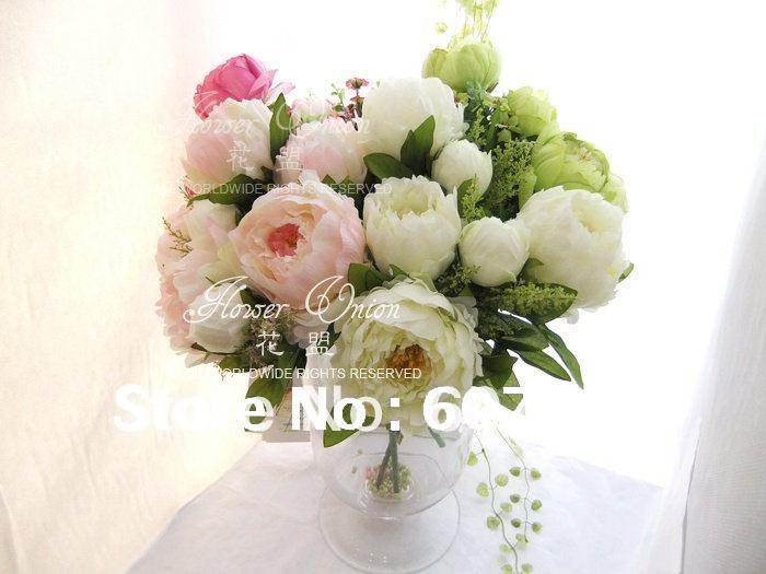 Ev ve Bahçe'ten Yapay ve Kurutulmuş Çiçekler'de Yapay ipek şakayık, Gelin Buketi, düğün masa centerpiece, noel ev dekorasyonu, çiçek düzenleme, 10 ADET'da  Grup 1