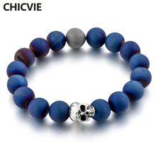 Chicvie Синий Очаровательный натуральный камень на заказ ручной