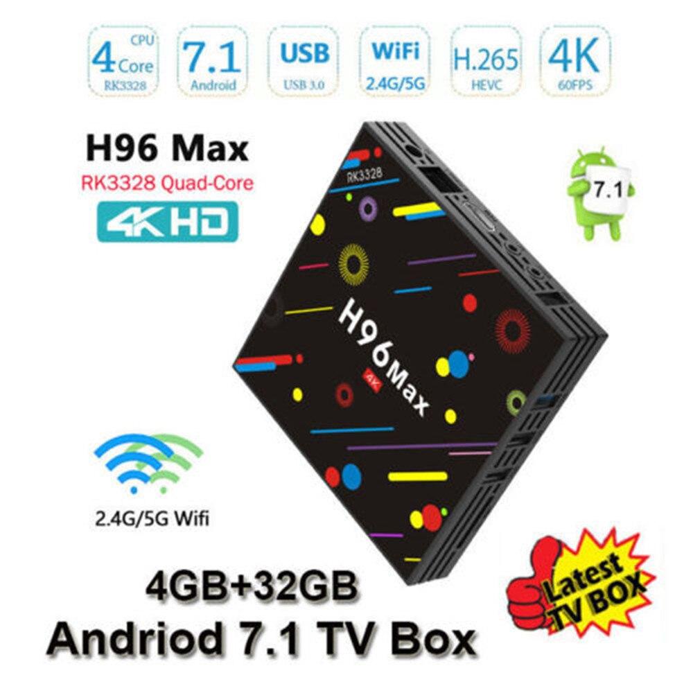 H96 Max H2 Android 7,1 tv box Чипсет RK3328 Quad-core 4 Гб Оперативная память 32 ГБ Встроенная память Поддержка IP ТВ 4 K 5G WI-FI h96 media Player tv box set