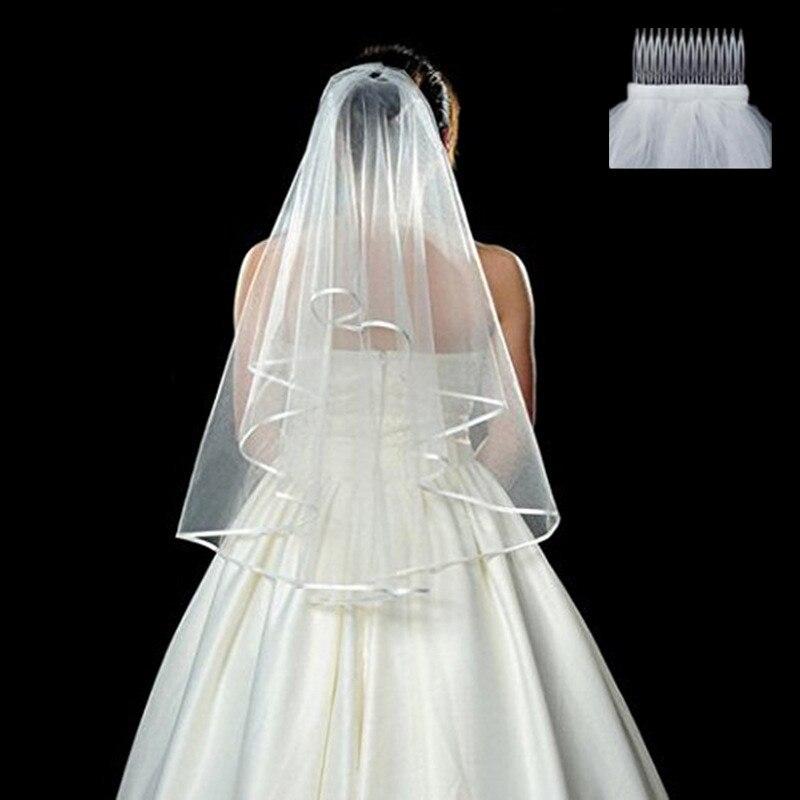 الزفاف الديكور الزفاف الأبيض الحجاب قصيرة الحرير طرحة زفاف العروس العازبة حزب لوازم الزفاف دش الحجاب صور الدعائم Bride To Be Bride To Be Veilbride Veil Brides Aliexpress