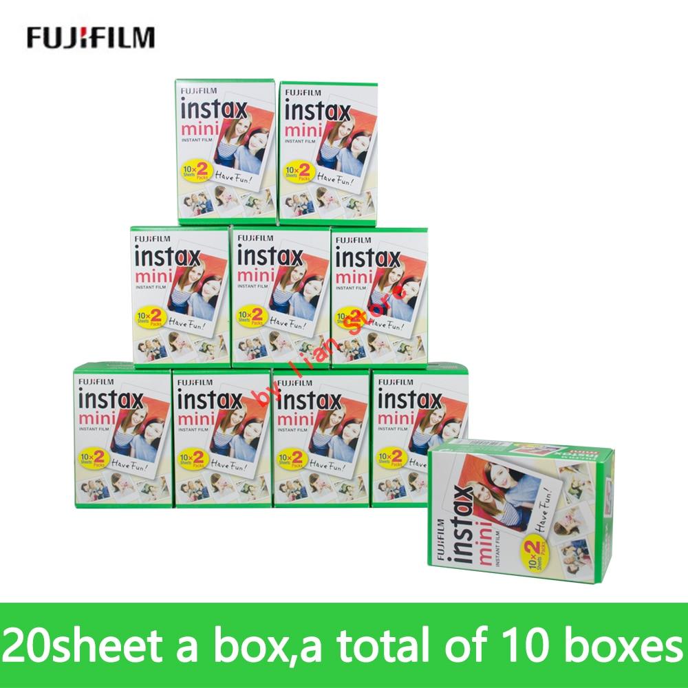 D'origine Fujifilm instax mini 9 FILM 200 feuille Fuji instsnt photo autocollants photo pour mini 8 7 s 25 50 s 90 Appareil Photo instantané Papier