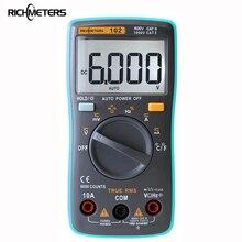 Richmeters 102 multímetro 6000 contagens de volta luz ac/dc amperímetro voltímetro ohm freqüência temperatura do diodo