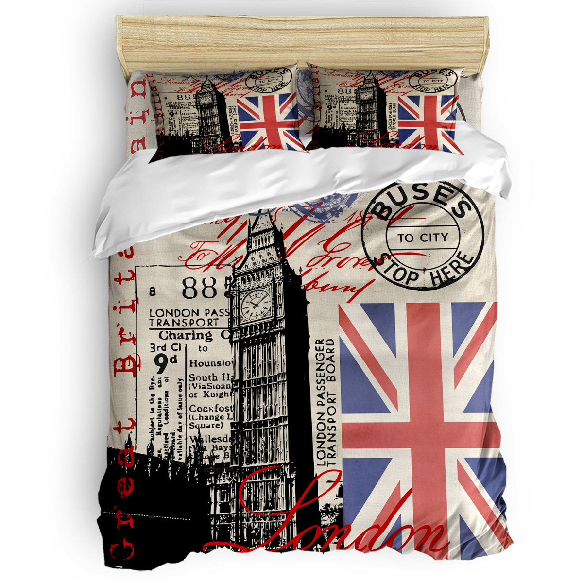 London Great Britain Big Ben Flag Collage 3D Cotton King Size Queen Size Quilt Cover Set Bedclothes Comforter Single Bedding SetLondon Great Britain Big Ben Flag Collage 3D Cotton King Size Queen Size Quilt Cover Set Bedclothes Comforter Single Bedding Set