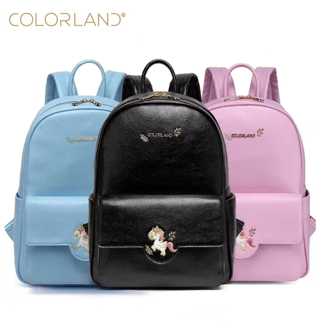 553332d0ea Colorland baby changing mom mummy maternity nappy diaper dag backpack  fashion PU Leather baby Organizer bags handbags for moms