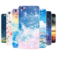 Phone Case For Vivo Y53 Case Cover Soft Silicon TPU 3D Sky Cartoon Back  Cover For 50f74eb308af