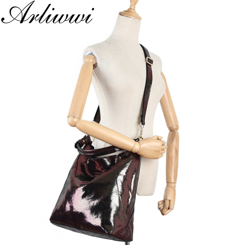 Genuine Leather Luxury Serpentine 100% Real Cow Leather Elegant Multi Functional Big Shoulder Bags For Women