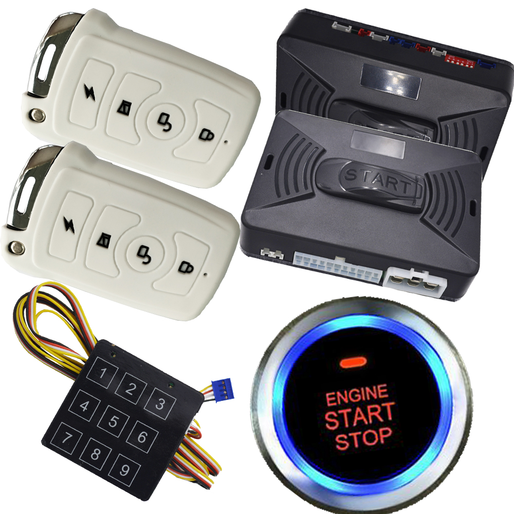 Alarme de voiture intelligente système de sécurité de voiture automatique alarme de voiture à distance bouton de démarrage à distance fonction de démarrage à distance alarme de porte latérale clé intelligente de voiture
