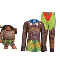 Nuovo Inverno Ragazzi Indumenti Da Notte Manica Lunga Moana Costume Delle Ragazze Pigiama tutina per bambini Pigiama Bambini Pigiama T-Shirt 3D Stampa Insieme Dei Vestiti