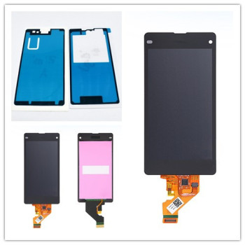 For Sony Xperia Z1 Mini D5503 Z1 Compact LCD Screen Display With Touch Screen Digitizer + Sticker Free shipping 5 0 lcd for sony xperia xa f3111 f3113 f3115 lcd display with touch screen display digitizer assembly free shipping