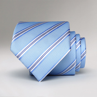 man bow tie 2017 new arrivals spring autumn formal suits ties for men business wedding groom light blue striped necktie gift box