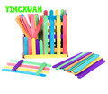 700pc 65*10*2mm Color Wood Icecream Stick Multicolor Wooden Popsicle Sticks Kids DIY Art Crafts Materials Creative Toys