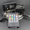 SMD 3528 2835 led strip light RGB IP65/non Waterproof Light 60LED/M 1/5M + IR Music Sound Remote Controller +12V Power Adapter