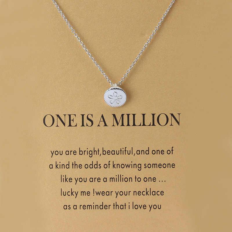 Minimalistyczny Clover Charms karta życzeń Choker Collier naszyjniki linki łańcuchy złota płyta dla kobiet oświadczenie biżuteria prezent