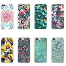 Shell For Apple iPhone X 5 5S SE 5C 6 6S 7 8 Plus 6SPlus Back Case Cover Printing Mandala Flower Datura Floral Cell Phone Cases все цены