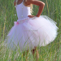 Flower Girl Dress Perfect Long Skirts Anklet Length Handmade Tutu for Special Occasion