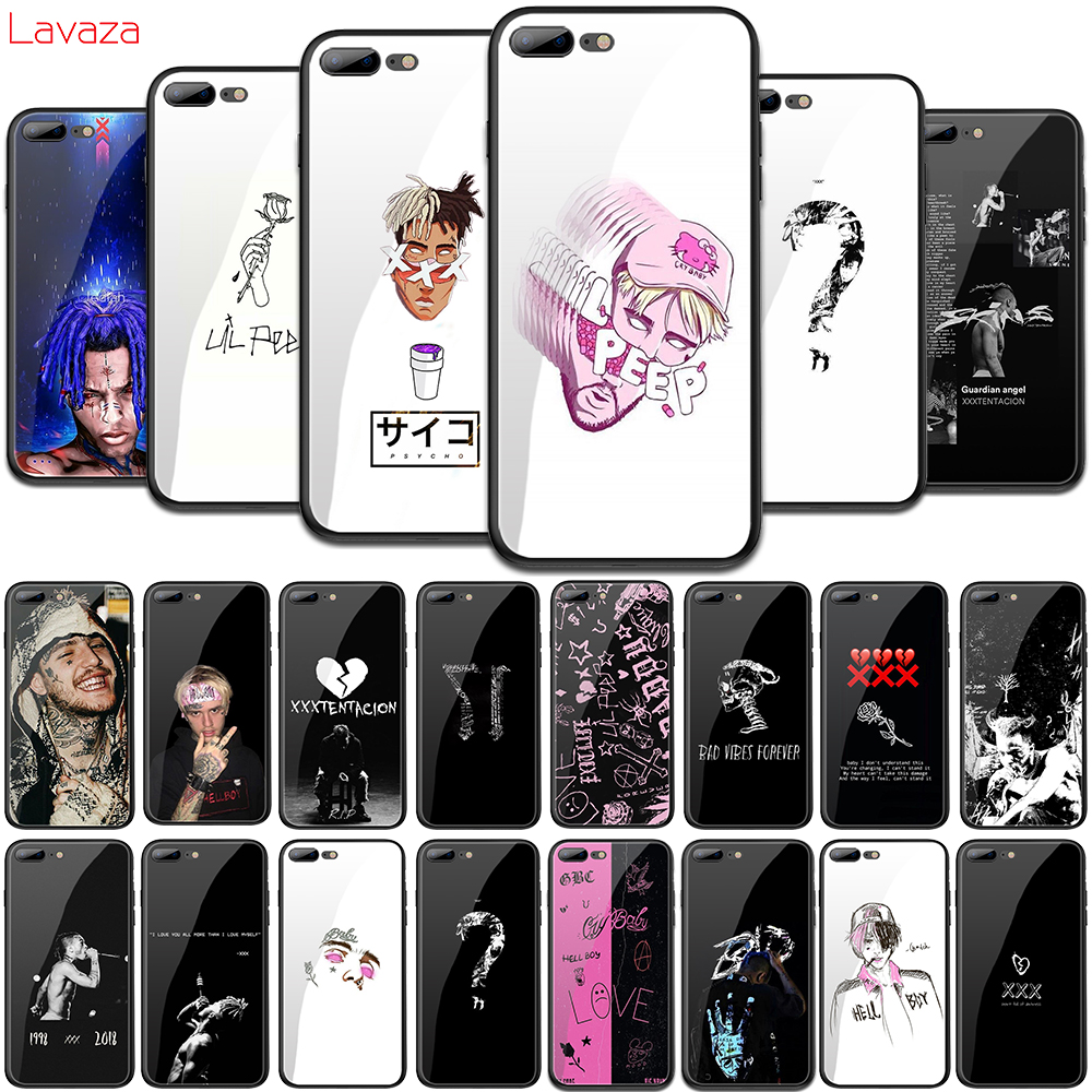 Lavaza XXXTENTACION pink peep Lil peep Tempered Glass Soft Case for iPhone 6 6s 7 8 Plus X 5 5S SE for iPhone XS Max XR Cover iphone