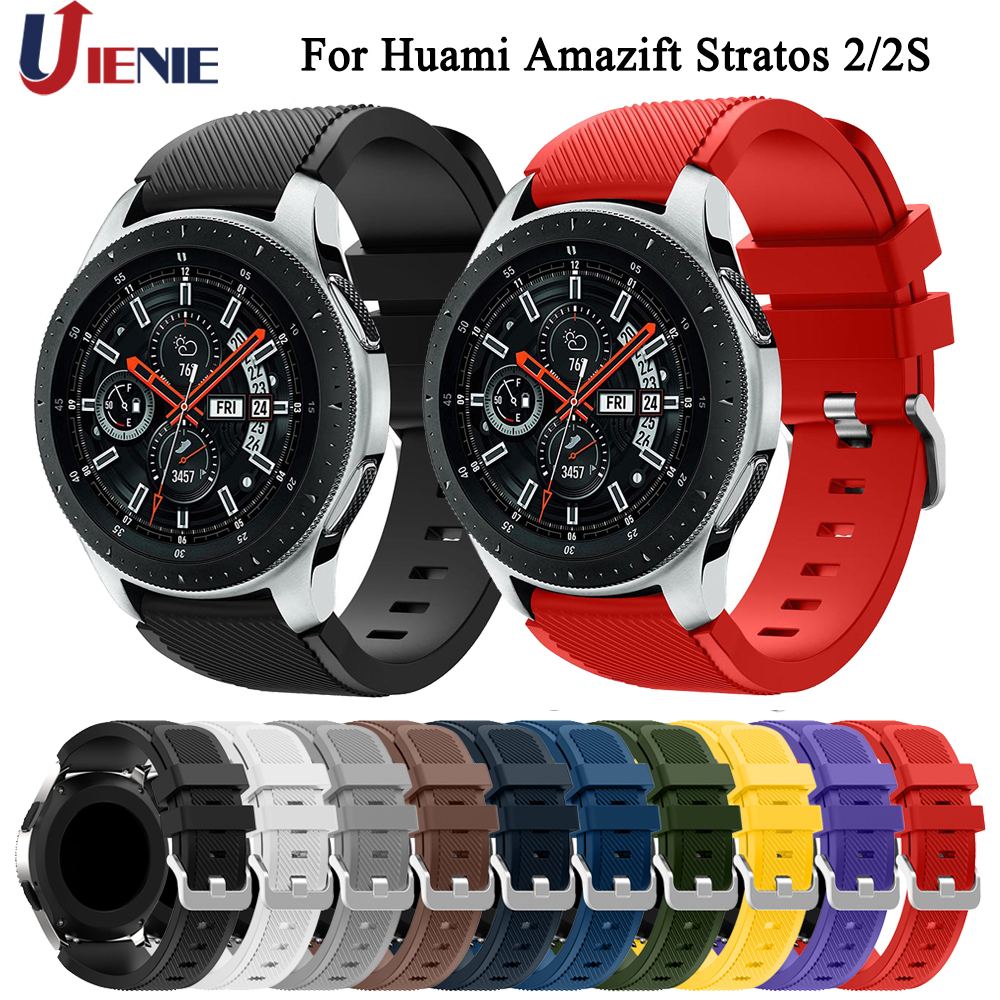 Watchband Strap Band for Xiaomi Huami Amazfit Pace/Stratos 2 2s/GTR 47mm Bracelet 22mm Silicone Wristband for Samsung Watch 46mm-in Smart Accessories from Consumer Electronics