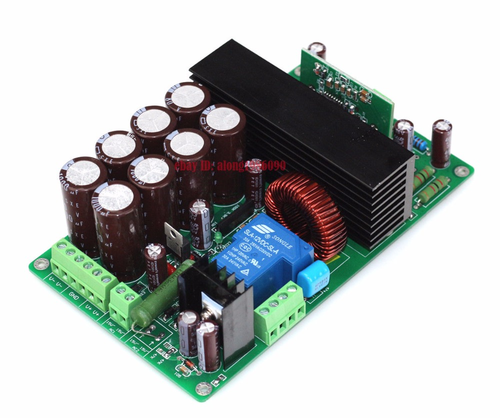 HIFI IRS2092 +IRFB4227 Mono Amplifier Board Class D Power Amp Board 1000W tas5630 amplifier class d board high power finished boards mono 600w for subwoofer or full range diy free shipping