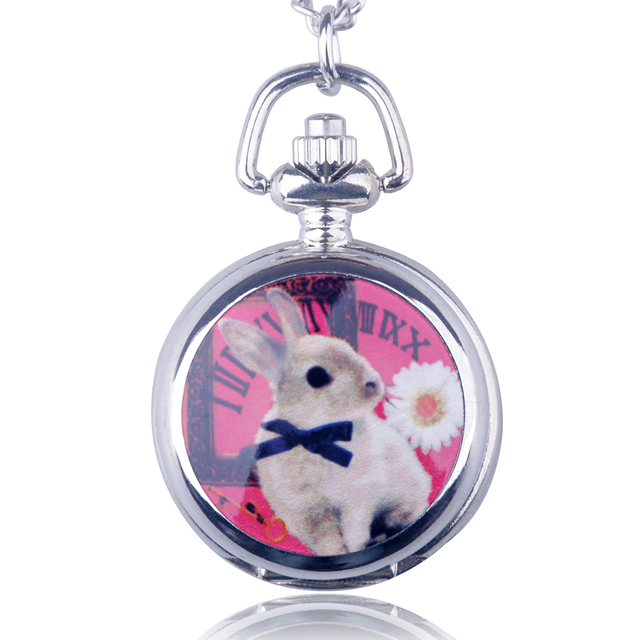 Cup Princess Rabbit Retro Long Necklace Quartz Pocket Watch Men And Women Sweate