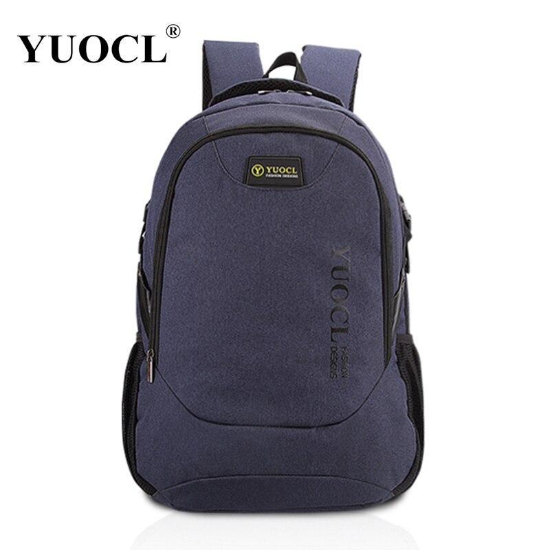 YUOCL 2018 Yeni Dizaynlı Kişi Sırtları Laptop üçün Bolsa Mochila 15 16 Inch Notebook Kompüter Çantaları Kişi Sırt Məktəbi Rucksack