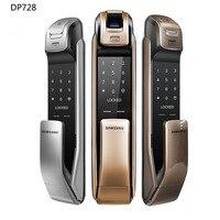 SAMSUNG SHP DP728 без ключа Bluetooth, отпечаток пальца PUSH PULL двухсторонний цифровой дверной замок английская версия большой врезной