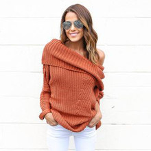 19727f79e32cf Knit Crochet Women Sweater Solid Long Sleeve Oversize Turtle Neck Ladies  Casual Top Loose Plus Size