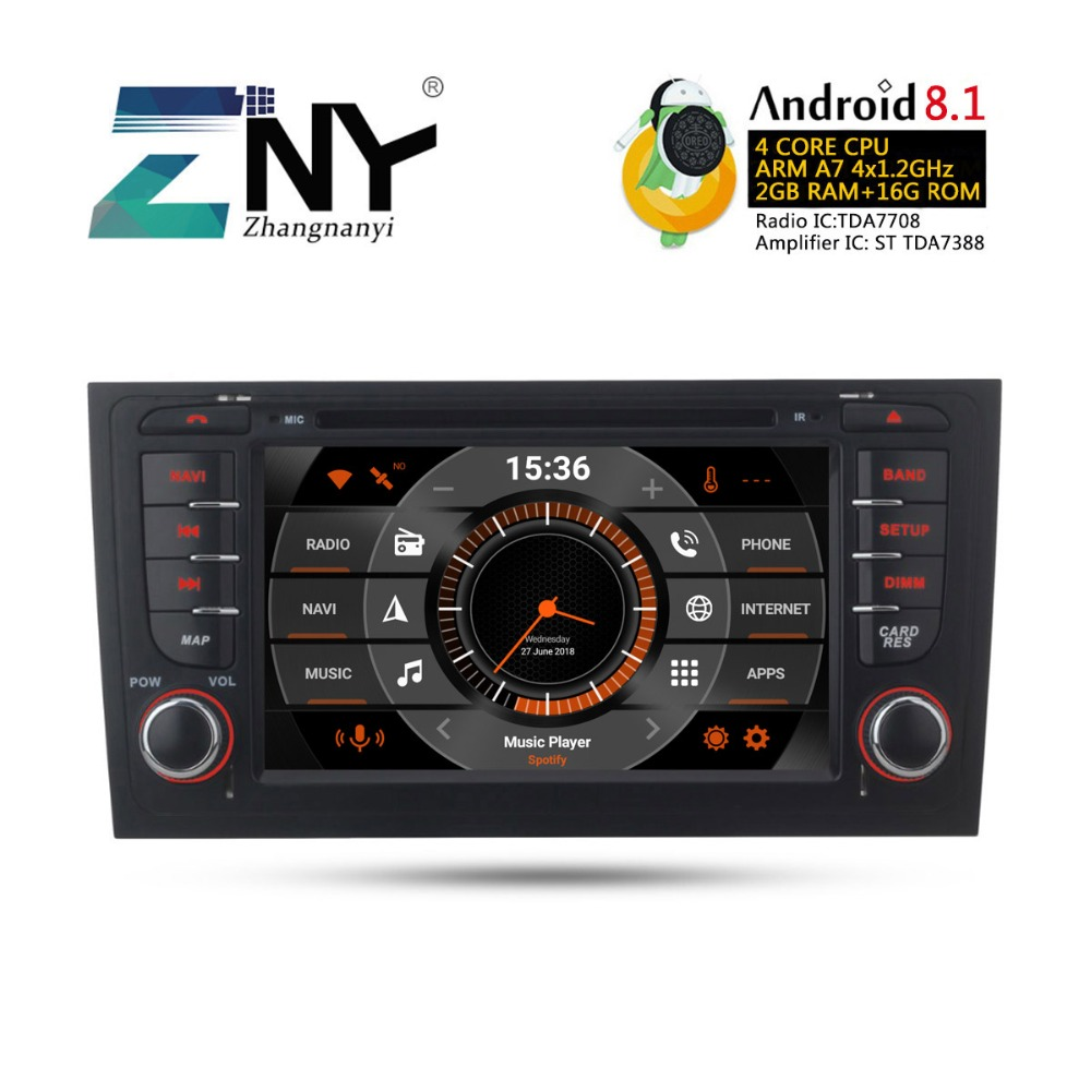 "7"" HD Android 8.1 Car DVD For Audi A6 S6 RS6 1997+ Auto Radio FM RDS GPS Navigation WiFi Audio Video Player Free Backup Camera"