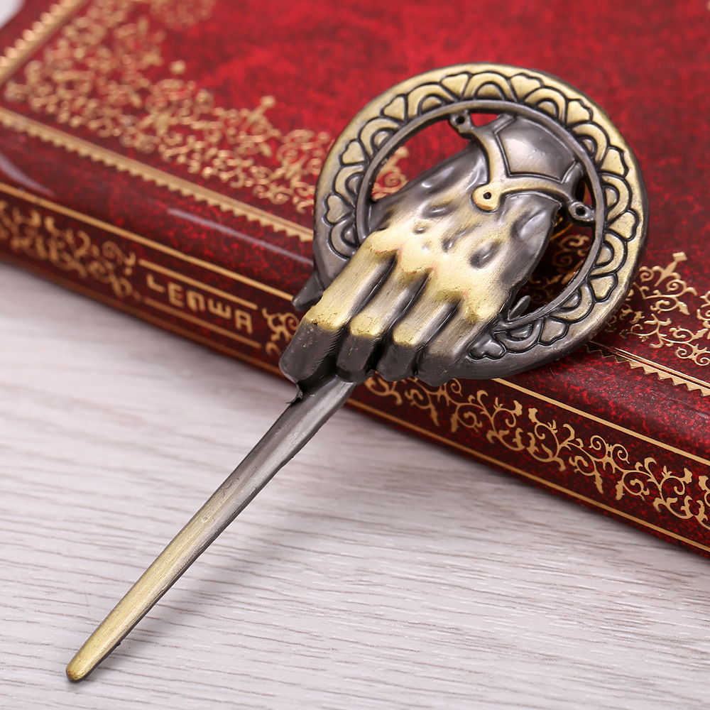 Game of Thrones Song of Ice and Fire Brooch Hand of the King Lapel Inspired Authentic Prop Pin Badge Brooches Movie Jewelry image