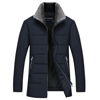 2019 New Fashion Long Jackets Winter Coats Brand-clothing Mens Overcoat Fur Collar Coat Style Long Coat Men Brand Clothing