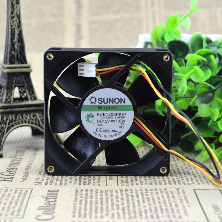 Sunon KDE1208PKV3 13.MS.AF.GN 12V 0.8W 8CM 8020 Fan 80*80*20MM Cooling Fan