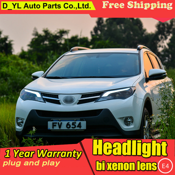 Car Styling Headlights for toyota RAV4 LED Headlight 2013-2015 for RAV4 Head Lamp LED Daytime Running Light LED DRL Bi-Xenon HID