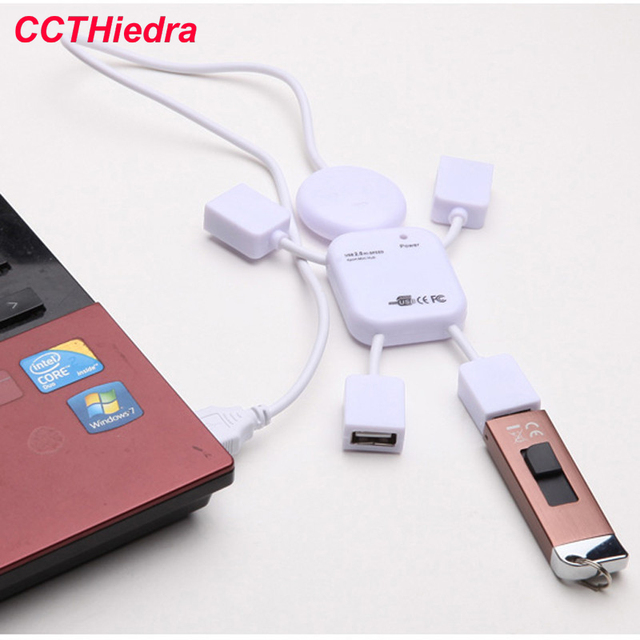 For PC Computer Accessories Robot 2.0 USB 4 Port Hub USB