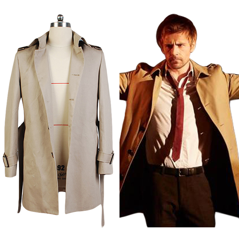 Constantine John Constantine Cotton Twill Trench Coat Costume Full Set