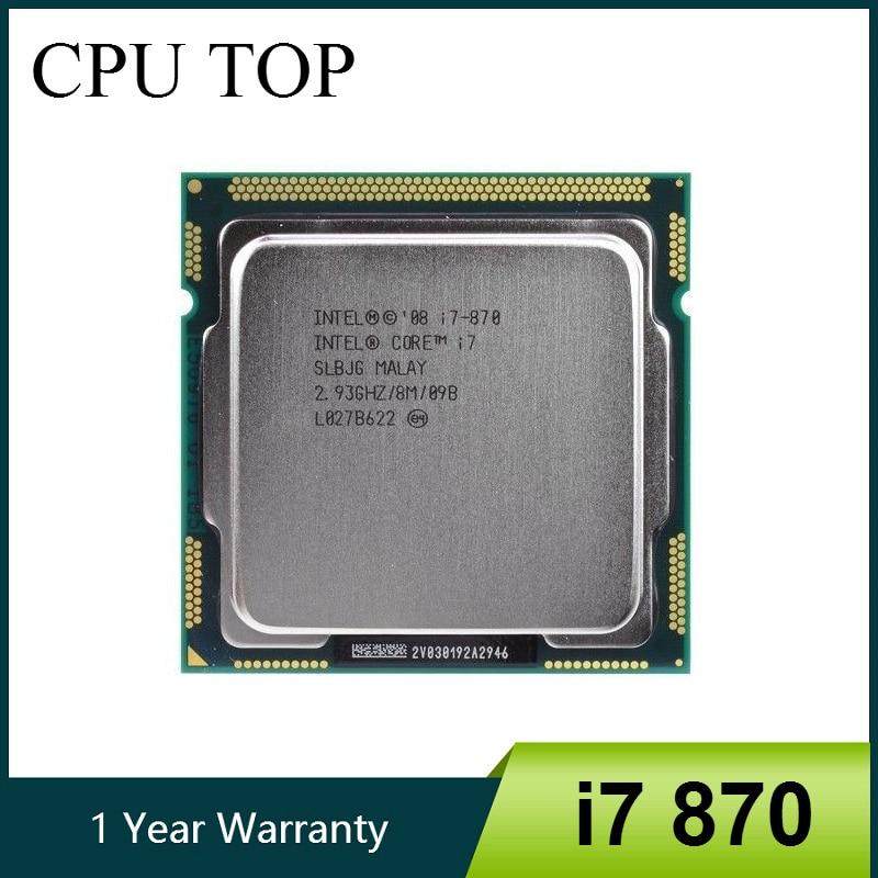 Core i7 870 2 93 GHz Quad Core L3 8M Processor Socket 1156 CPU SLBJG 95W
