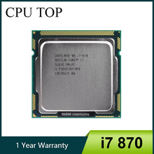 Core i7 870 2.93 GHz Quad-Core L3 8M Processor Socket 1156 CPU SLBJG 95W