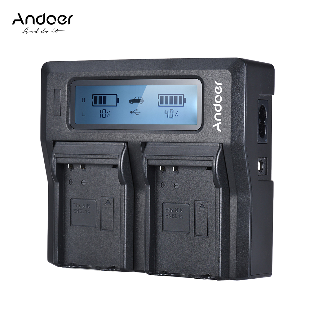 Andoer NP-FZ100 Camera Battery Charger For Sony Dual Channel LCD Camera Battery Charger For Sony A7III A9 A7RIII A7SIII