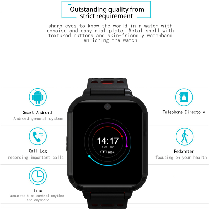 OGEDA 2019 Smart Watch Men Sport GPS Bluetooth Stopwatch LED 4G Network WIFI Camera 1GB/8GB Waterproof Fashion Multi-functionOGEDA 2019 Smart Watch Men Sport GPS Bluetooth Stopwatch LED 4G Network WIFI Camera 1GB/8GB Waterproof Fashion Multi-function