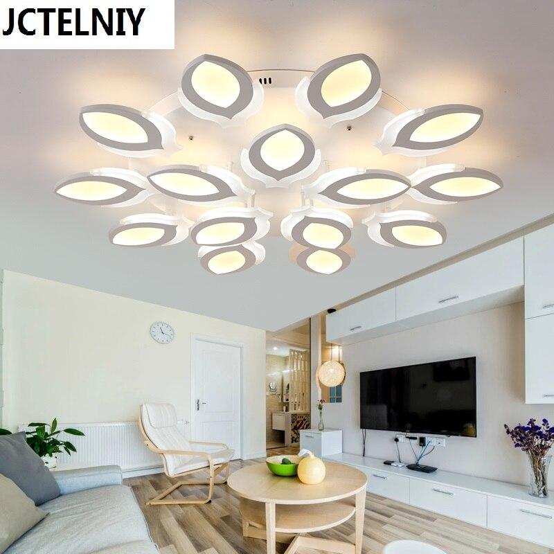 Новый акриловые современные светодиодные светильники потолочные для гостиной спальня Plafon led освещение дома потолочный светильник Домашне