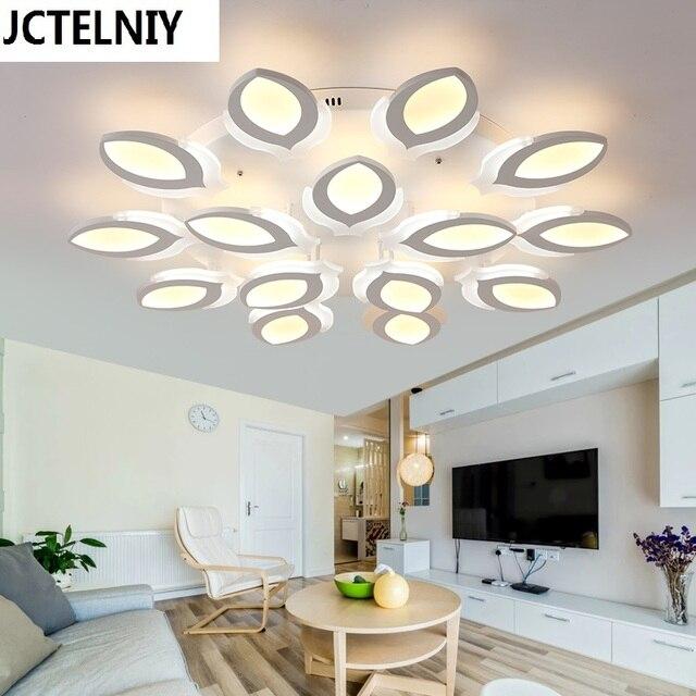 New acrylic modern led ceiling lights for living room for Plafones led ikea