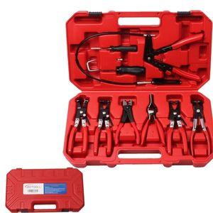 Image 2 - 9 pièces collier de serrage anneau pince pince ensemble Flexible câble pince pivotant mâchoire outil PT1002