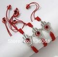 Fashion Vintage Silver  Hamsa Hand & Red Evil Eye Charms Bracelet  Bangle For Women Adjustable  Cord  DIY Jewelry 10pcs  P1515