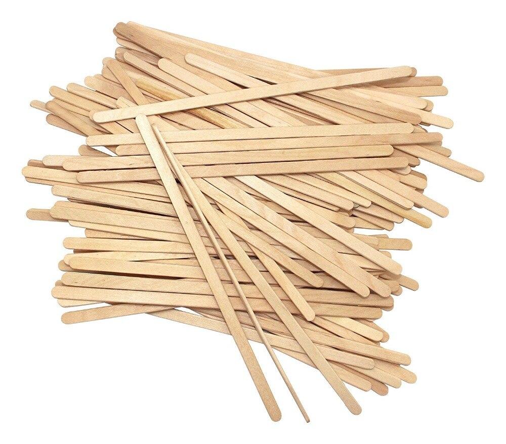 Disposable Birchwood Tea Wood Coffee Stir Sticks Wooden Stirrers 5.5 Inch 100 Pcs