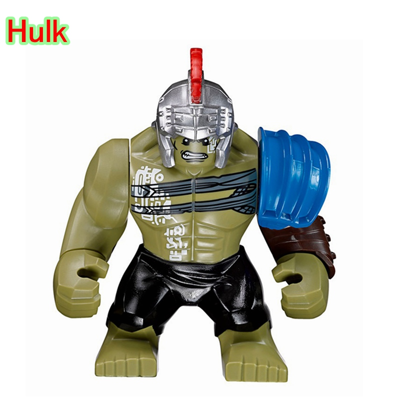 Big Hulk Action Dolls Single Sale Marvel Superheroes Newest Thor Movie Building Blocks Toys For Children XH654