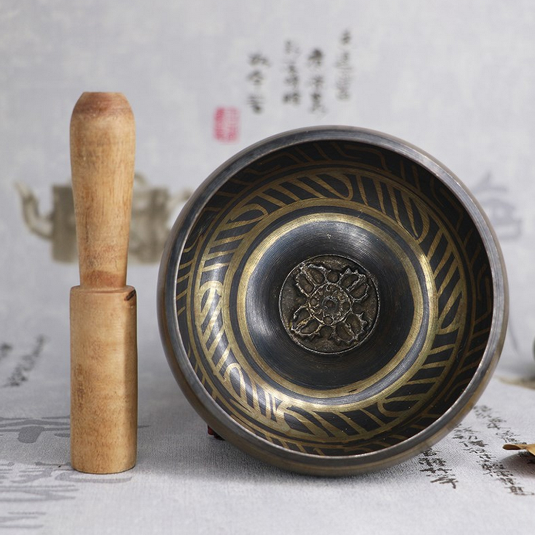 Best Sale Tibetan Bowl Singing Bowl Decorative-wall-dishes Home Decoration Decorative Wall Dishes Tibetan Singing Bowl