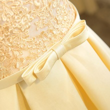 SOCCI Weekend Light Gold Cocktail Dress 2017 Womens Tulle Lace Formal Wedding Party Gowns sleeveless knee length robe de Dresses